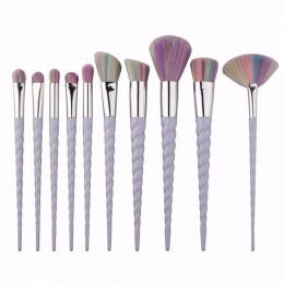 OS Professional Unicorn Thread 10PCS Makeup Brushes Set With Unique Handle
